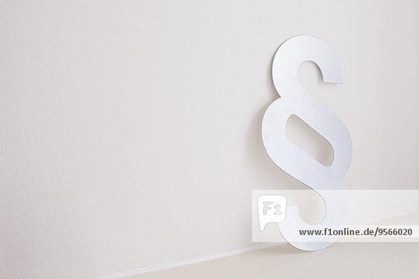 Wand,Zeichen,Paragraphenzeichen,Signal