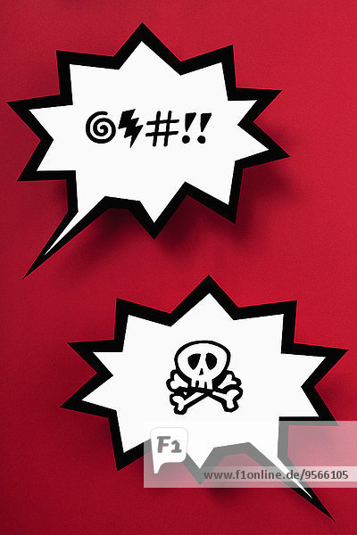 Rede,Reden,Gefahr,Blase,Blasen,Hintergrund,rot,Fluch
