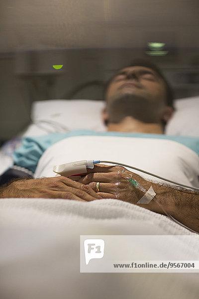 Patientin,Krankenhaus,Bett,schlafen
