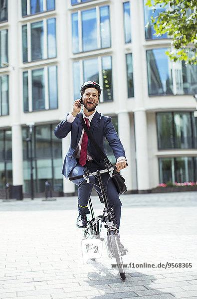 Handy,sprechen,Geschäftsmann,Fahrrad,Rad