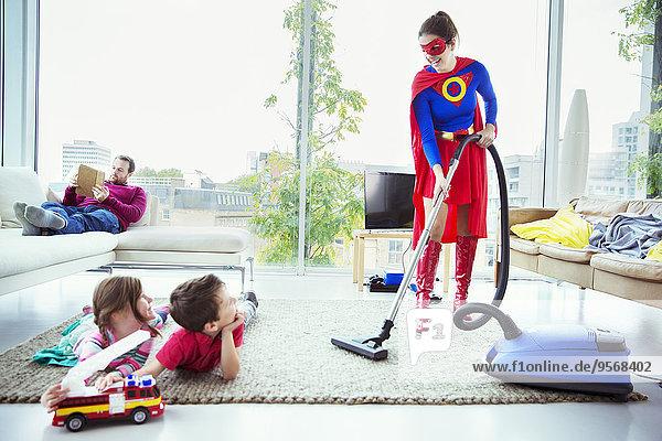 Zimmer,Superheld,Staubsauger,Wohnzimmer