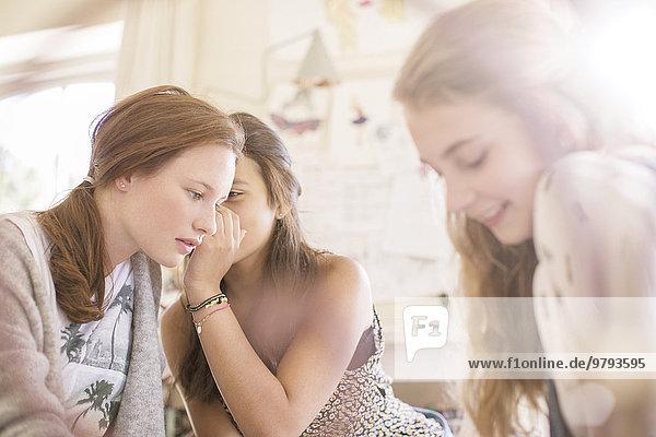 Jugendlicher,Zimmer,Klatsch,3,Mädchen