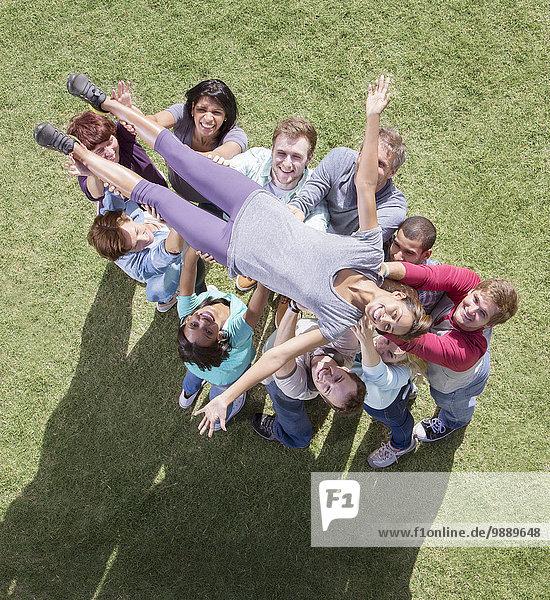 Teamwork,Frau,Unterstützung,Sorglosigkeit
