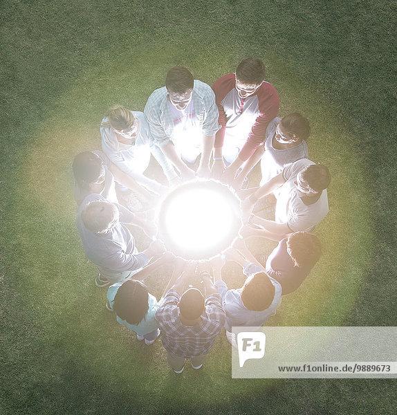 glühend,Glut,Teamwork,Planetologie,Kreis,umgeben