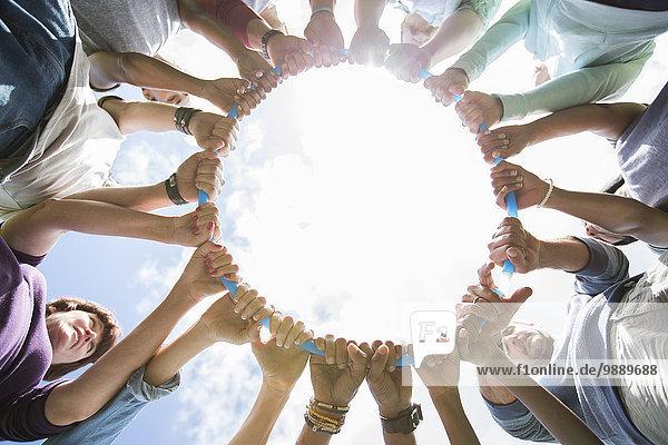 Teamwork,Verbindung,Kreis,Form,Formen,Kunststoff,umgeben,einlochen