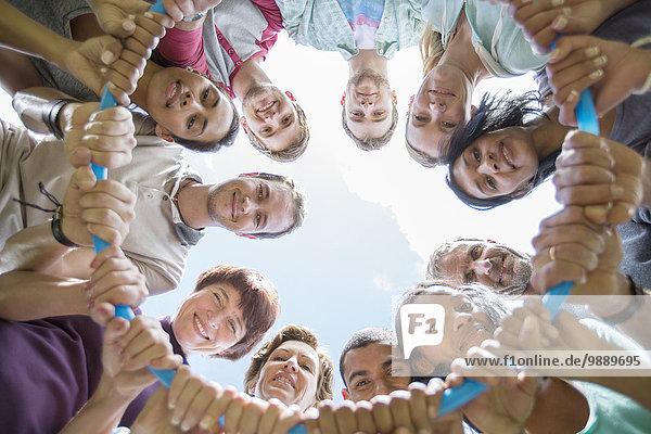 Teamwork,Portrait,Verbindung,Kreis,Kunststoff,einlochen