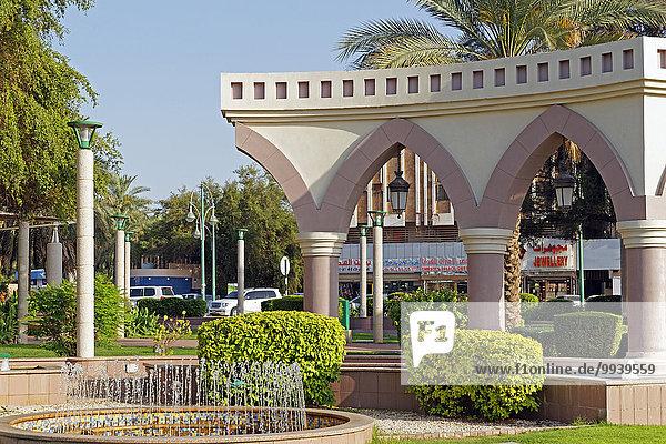 Abu Dhabi Al Ain Architektur Asien Auto Baum Baustelle
