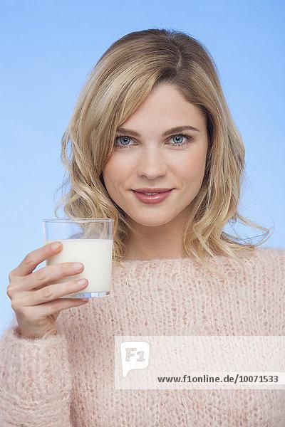 Frau,Close-up,trinken,Milch