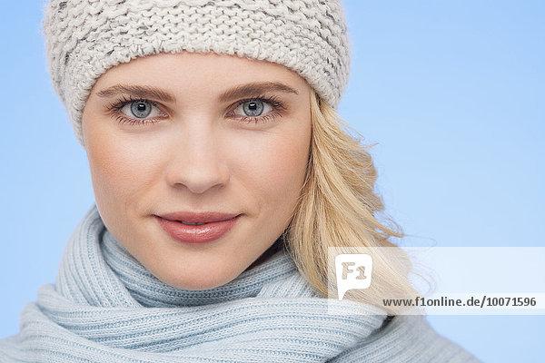 Portrait,Frau,Schönheit,Hut,stricken