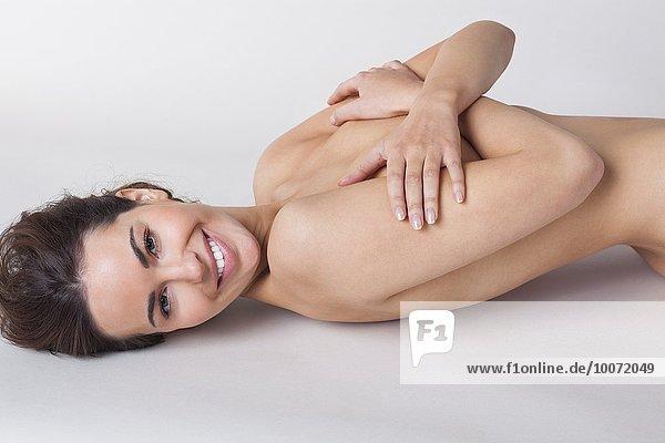 Frau,lächeln,nackt