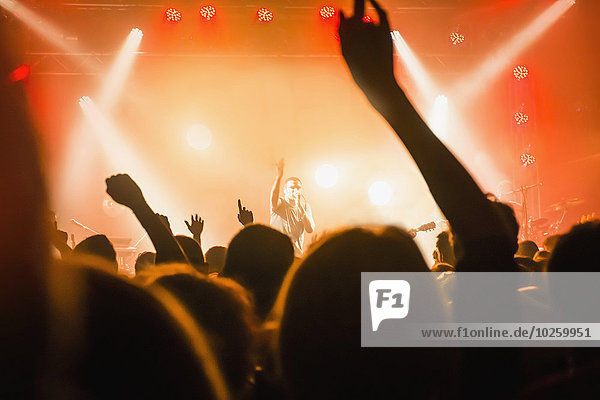 frontal,zeigen,Sänger,Publikum