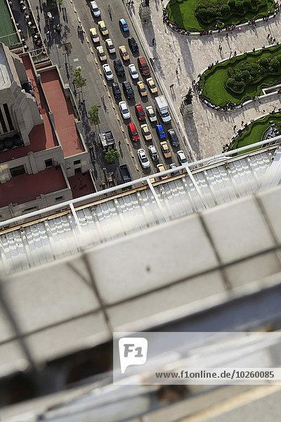 hoch,oben,Verkehr,Straße,Großstadt,Ansicht,Flachwinkelansicht,Winkel