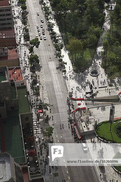hoch,oben,Straße,Großstadt,Ansicht,Flachwinkelansicht,Winkel