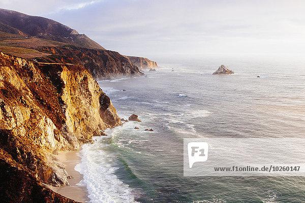 hoch,oben,Felsen,Steilküste,Meer,Ansicht,Flachwinkelansicht,Winkel