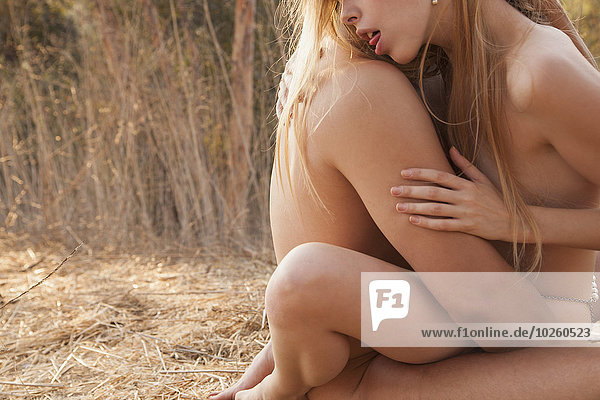 Liebe,Hingebung,Produktion,Natur,Ansicht,Seitenansicht,nackt