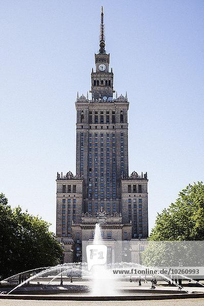 Warschau,Hauptstadt,Fassade,Hausfassade,Palast,Schloß,Schlösser,Kultur,Wissenschaft