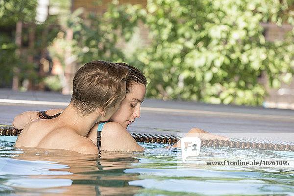 Schwimmbad,passioniert