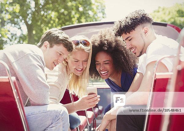 Handy,Freundschaft,Kurznachricht,Omnibus,Doppelstockwagen
