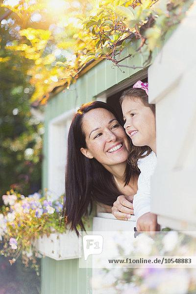 lächeln,Tochter,Mutter - Mensch