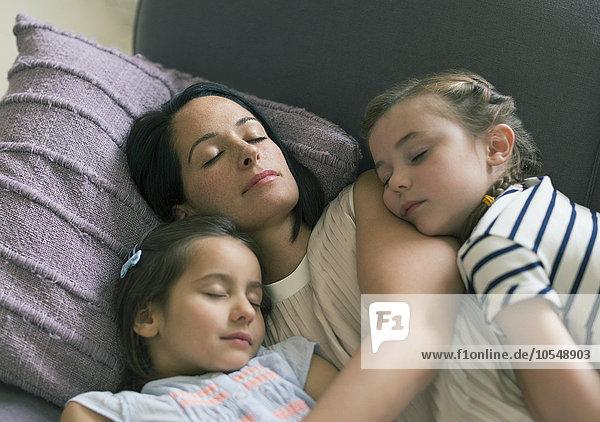 Couch,Ruhe,dösen,Tochter,Mutter - Mensch
