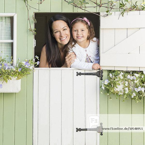 Portrait,lächeln,Tochter,Mutter - Mensch