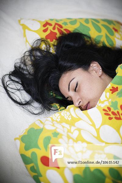 Frau,Bett,schlafen