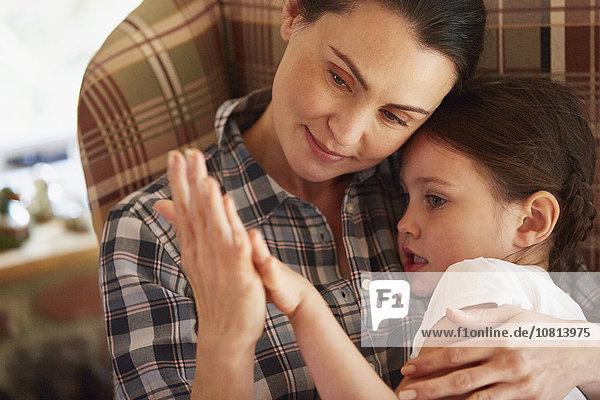 Zuneigung,halten,Tochter,Mutter - Mensch