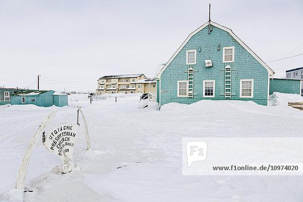 Alaska,Amerika,Architektur,Arktis,Außenaufnahme,Außenaufnahme von Gebäude