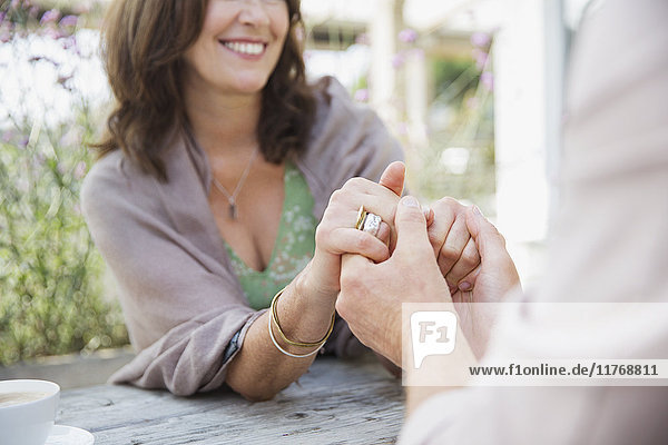 angelehnt,berühren,Close-up,Ehe,Ehefrau,Ehemann