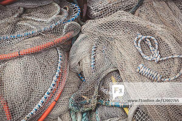 Fischernetze und Reusen, Friedrichskoog, Schleswig-Holstein, Deutschland, Europa