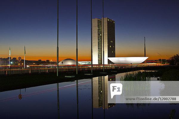 Congresso Nacional, Brasilia, Distrito Federal do Brasil, Brasilien, Südamerika, Amerika