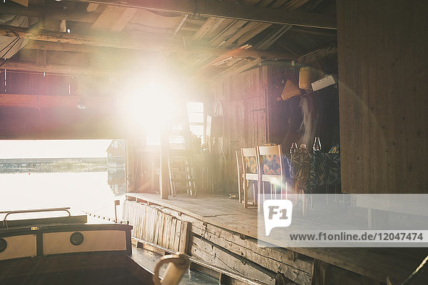 Abwesenheit,Bauwerk,beleuchtet,Blendenfleck,Chalet,Europa