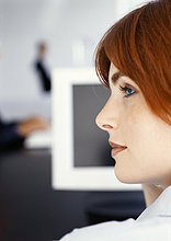 Frau Gesicht, Seitenansicht
