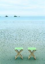 Campstools am Strand