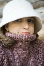 Portrait,Jugendlicher,Hut,Close-up,Kleidung,Rollkragenpullover,Mädchen
