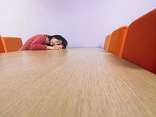 Geschäftsfrau ,schlafen ,Besuch, Treffen, trifft ,Tisch