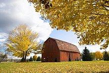 Fallen Herbst Farbe pastoralen Farm Szene in der Nähe von Springfield (Illinois)