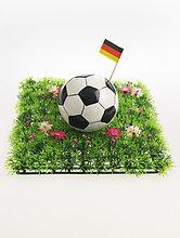 Fußball mit der deutschen Fahne
