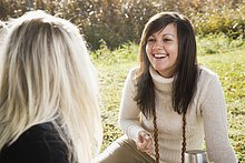 Freunde auf Picknick