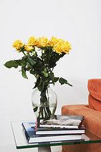 Buch,Blume,Blumenvase,Rose