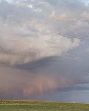Frühling Sturm in der Nähe von Cochrane, Alberta, Kanada
