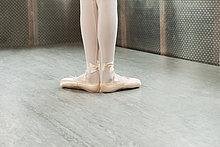 Füße Ballerina in erster position