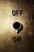 Kaffeetasse als Ein-Aus-Schalter