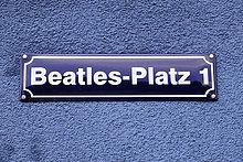 Beatles-Platz 1, Straßenschild, Reeperbahn, Hansestadt Hamburg, Deutschland, Europa