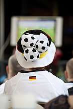 Deutscher Fan bei Fußball-Weltmeisterschaft