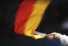 Hand mit Deutschlandflagge