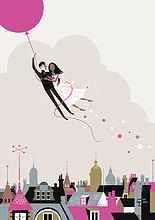 Brautpaar fliegt an Heliumballon davon