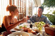 Abendessen ,Sommer ,Balkon ,Romantik
