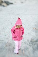 Wärme ,stehend ,pink ,jung ,Mädchen