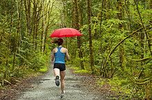 Regenschirm, Schirm ,Fernverkehrsstraße ,Training ,mischen ,Läufer ,Mixed